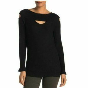 Devotion by Cyrus Cutout Knit Sweater Top